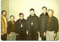 1976?  Paul Salina, Jimmy Camarata, Bp. JOSE, Abp. DMITRI, Fr. Paul Lazor, Paul Culton