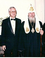 Paul Culton and Patriarch ALEXY II